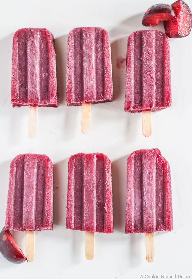 People rejoice! these plum and red wine popsicles are the perfect boozy summer indulgence. Perfect with a glass of wine - just