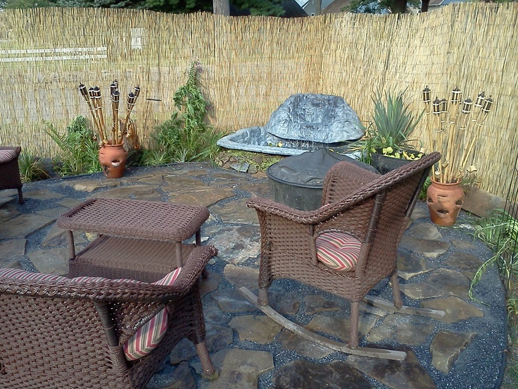 DIY Patio With Preformed Pond. After All The Great Ideas On Pinterest, I  Made
