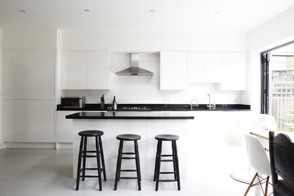 BLACK AND WHITE KITCHEN shootfactory location library london www.shootfactory....