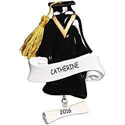 Personalized Graduation Gown Christmas Ornament