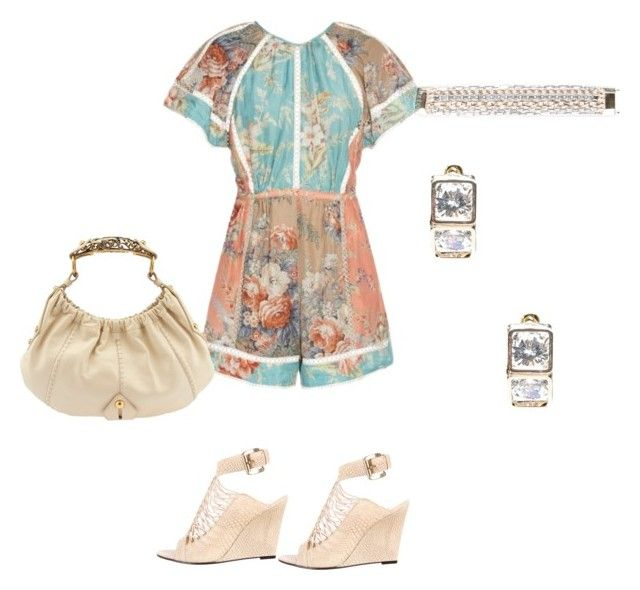 """""""Playsuit"""" by gonnadressyouup on Polyvore featuring Zimmermann, Bebe, Yves Saint Laurent and Givenchy"""