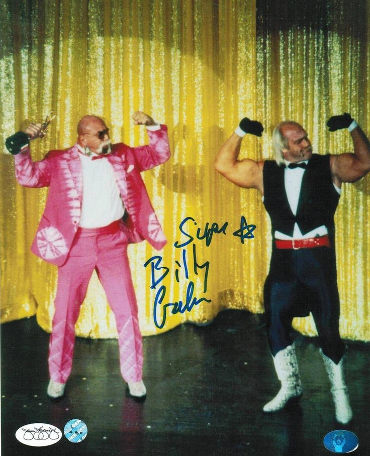 Superstar Billy Graham Autographed 8x10 Photo -Posing with Hulk Hogan-
