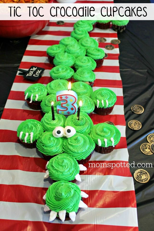 Since Sawyer's Pirate Birthday party our Tic Toc Croc Pirate Crocodile Cupcakes directions have been requested a handful of times. Super Easy and Fast!