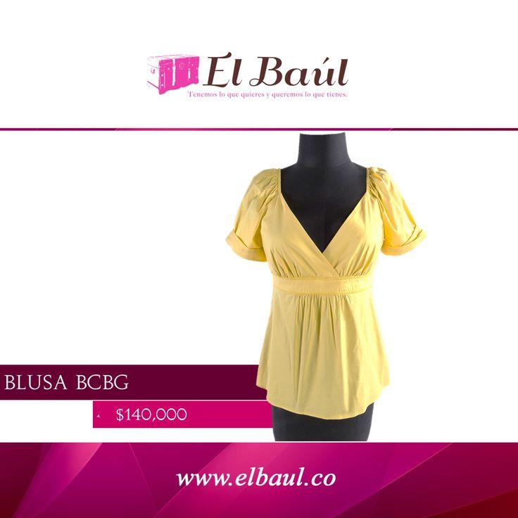 @BCBGMAXAZRIA la marca de Max Azria en 1989 con su estilo innovador  $140,000  http://elbaul.co/Productos/1431/BCBG-Blusa-amarilla-