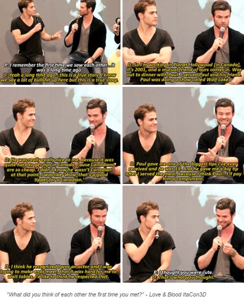 tvd - paul wesley and daniel gillies