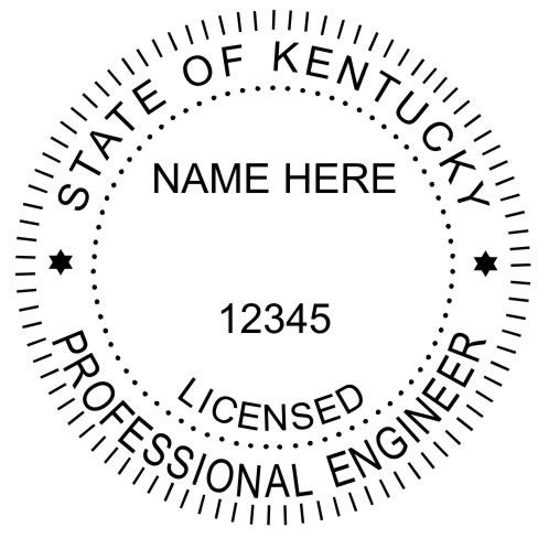 Example Of The Kentucky Engineer Seal Typical Size For This Is 1 5 8 In Diameter