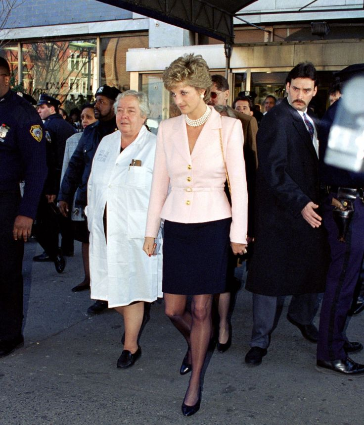 January 30, 1995: Princess Diana during her visit to an Children's Aids unit of Harlem Hospital in Harlem, New York.