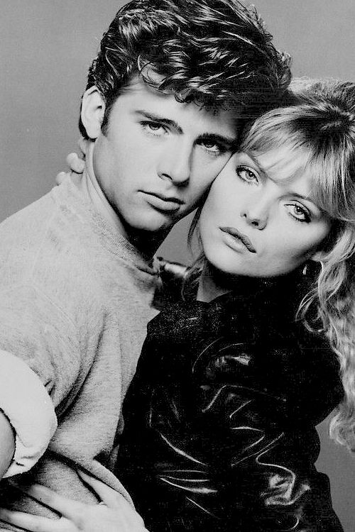 #Grease2  Michelle Pfeiffer(Stephanie) & Maxwell Caulfield(Michael)