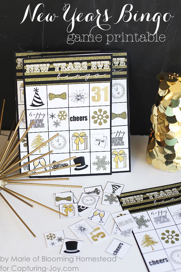 New Years Bingo Game Printable