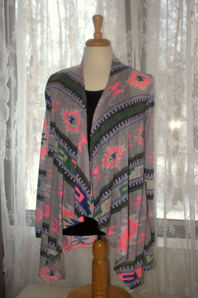 Bold Aztec Cardi Size S, M, L available at Miss Modern Boutique