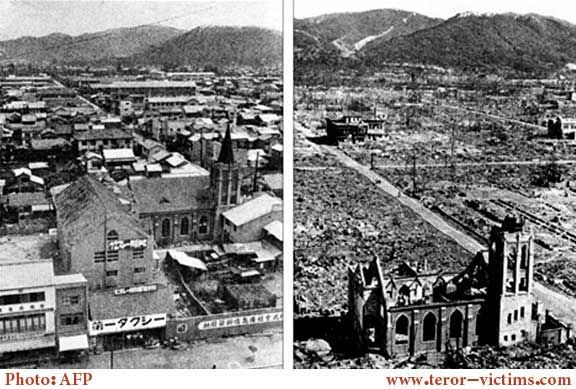 Hiroshima Before And After | Hiroshima city before and after the nuclear bomb blast in 1945