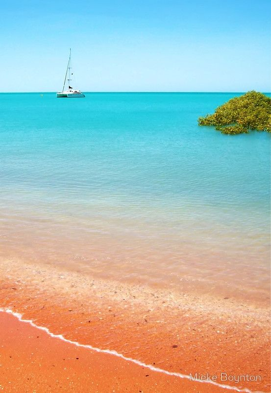 """Town Beach, Broome"" © Mieke Boynton. Broome, Western Australia. Available from http://www.redbubble.com/people/miekeb/works/3865849-town-beach-broome"