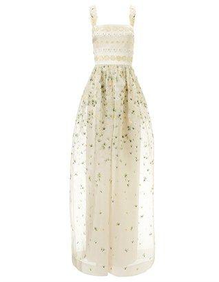 Ecru Silk Primrose Gown Temperley London