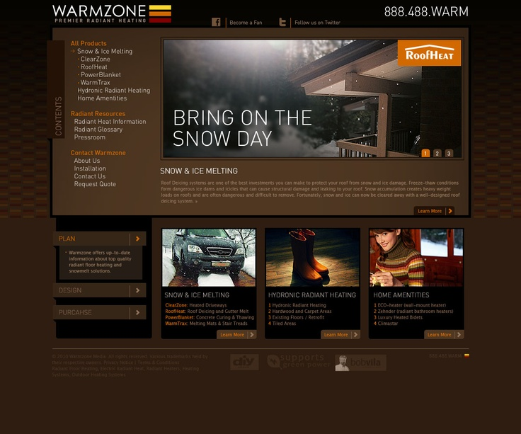 Warmzone website redesign. #webdesign #UX