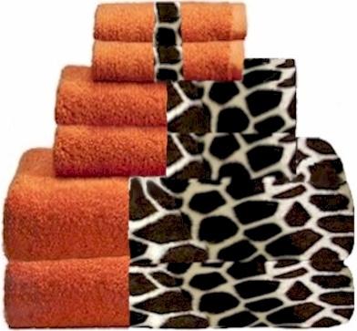 Giraffee U0026 Orange Animals Bordering Africa Bath Towels. $11.00   $27.00  SALE $10.00   $24.00