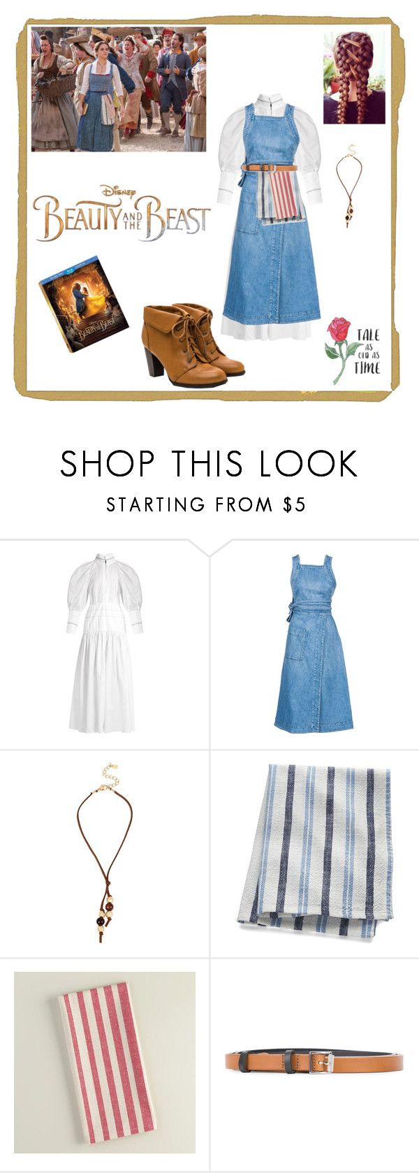 """""""It takes a Village Belle"""" by closet-freak ❤ liked on Polyvore featuring E L L E R Y, Disney, STELLA McCARTNEY, Robert Lee Morris, Crate and Barrel, Cost Plus World Market, rag & bone, BeautyandtheBeast and contestentry"""