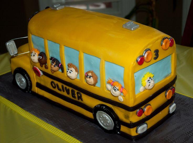 yellow school bus — Birthday Cakes