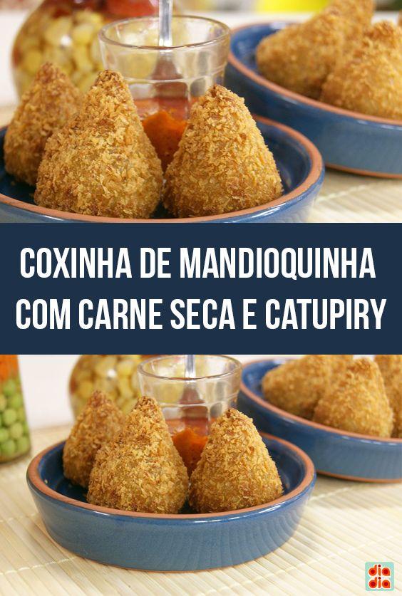 Coxinha de Mandioquinha com Carne Seca e Catupiry