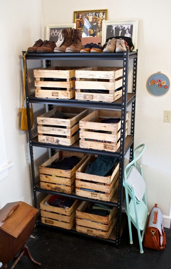 Manage It Monday Wood Crate Dresser Diy Storage
