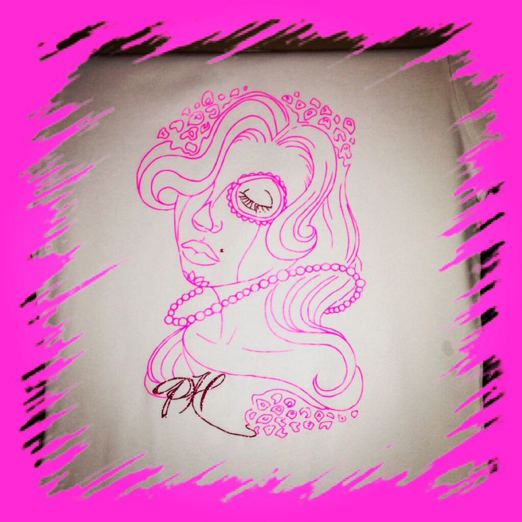 Prety Hair Neon Pink on White Tshirt