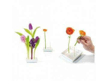 Vase pour fleurs à planter sur tige