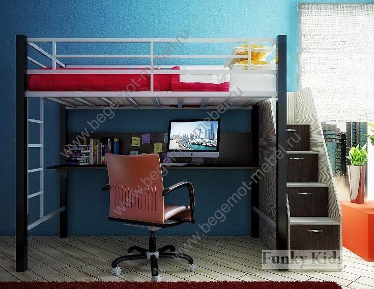 Картинки по запросу кровать чердак для подростка с рабочей зоной