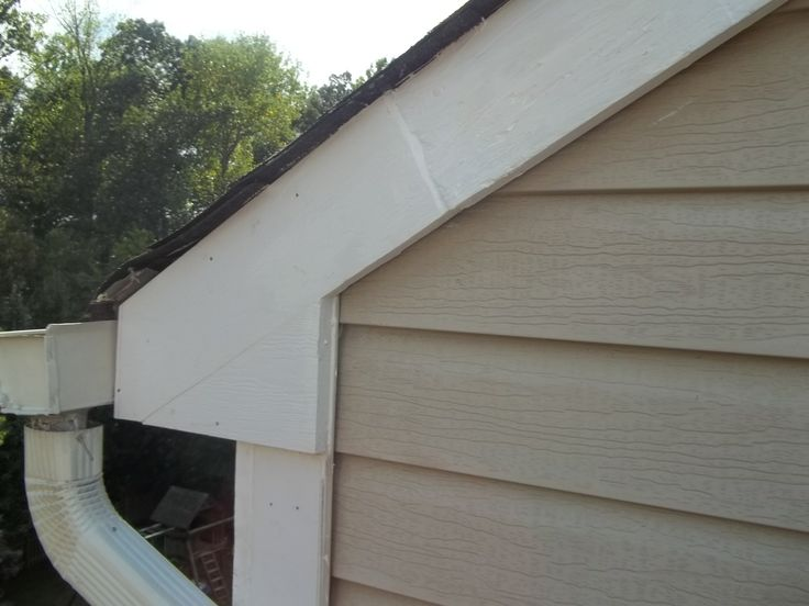 After Photograph Of Completed Rake Board, Bracket, And Corner Board Wood  Trim Installation. Wood TrimExterior Great Pictures