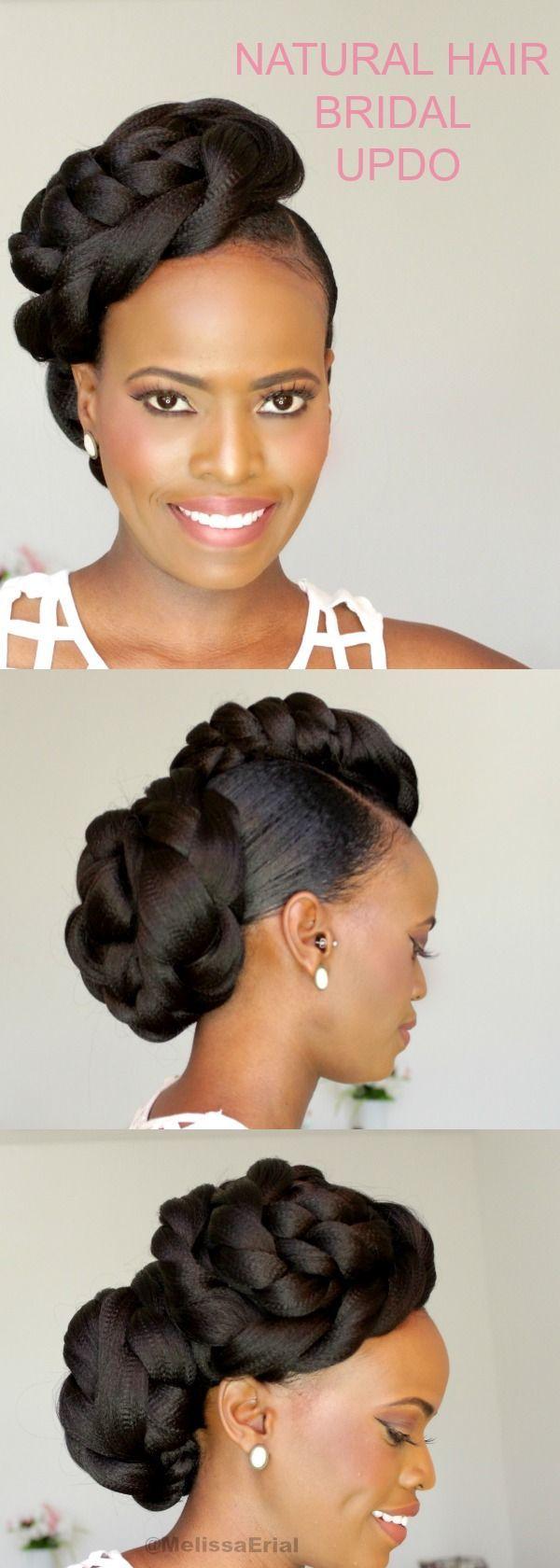 2019 natural hair bridal hairstyles for black women