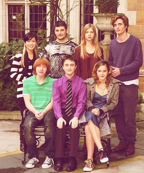 This picture is so cute! Main characters from the Goblet of Fire