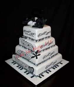 Jazz Wedding Cake Toppers