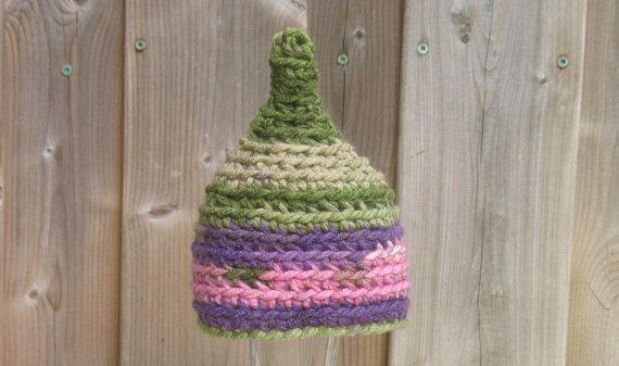 Newborn Girl Hat Pixie Hat Newborn Pixie Hat by DeesCozyCreations