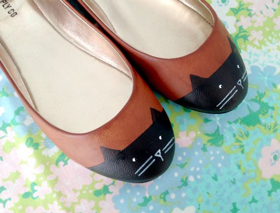 Cat toe shoes in Craft ideas for the clothing and fashion