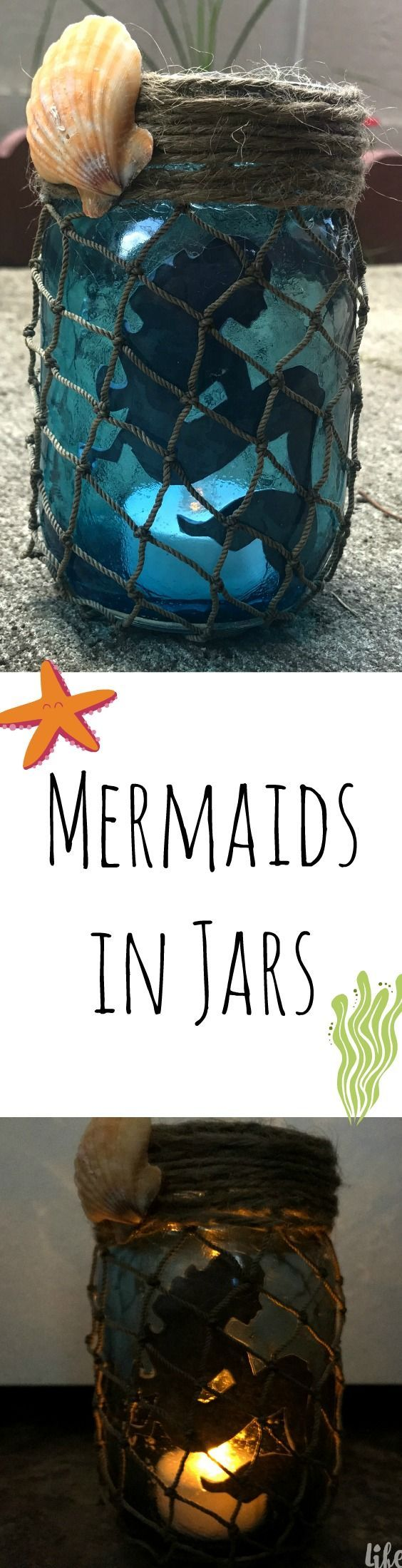 Don't throw away those empty jars until you see this magical idea! These mermaids in a jar are the perfect way to light up the night. Read more at http://lifeispoppin.com/mermaids-in-a-jar-a-magical-creation/