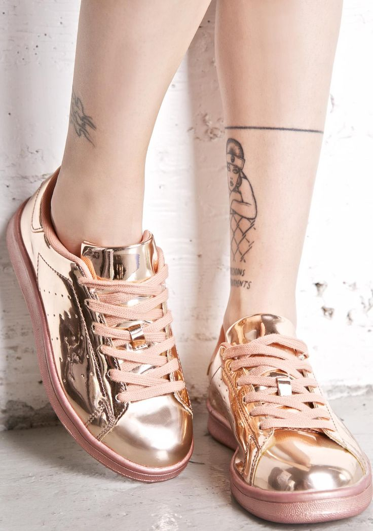 Melted Rose Metallic Sneakers will have ya bendin' the earth beneath yer feet…