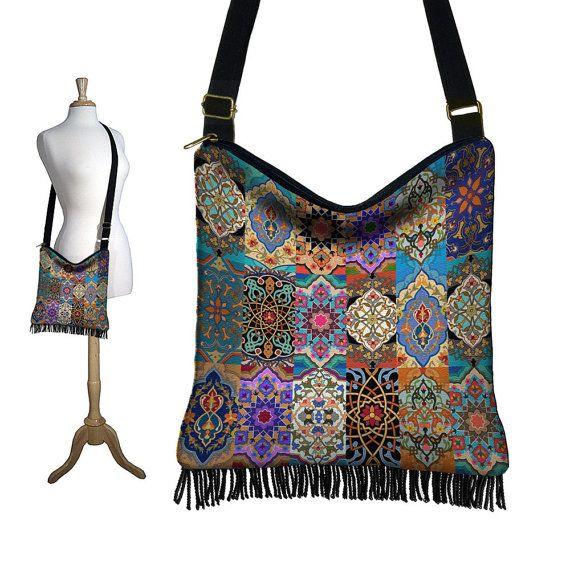 Persian Patchwork Hippie Bag Hobo Purse by janinekingdesigns