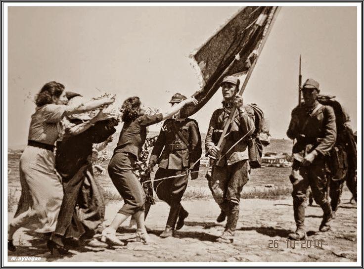 Çanakkale'ye giren ilk Türk birliğinin sancağı