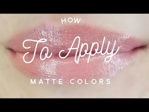 How to Apply Matte LipSense Colors