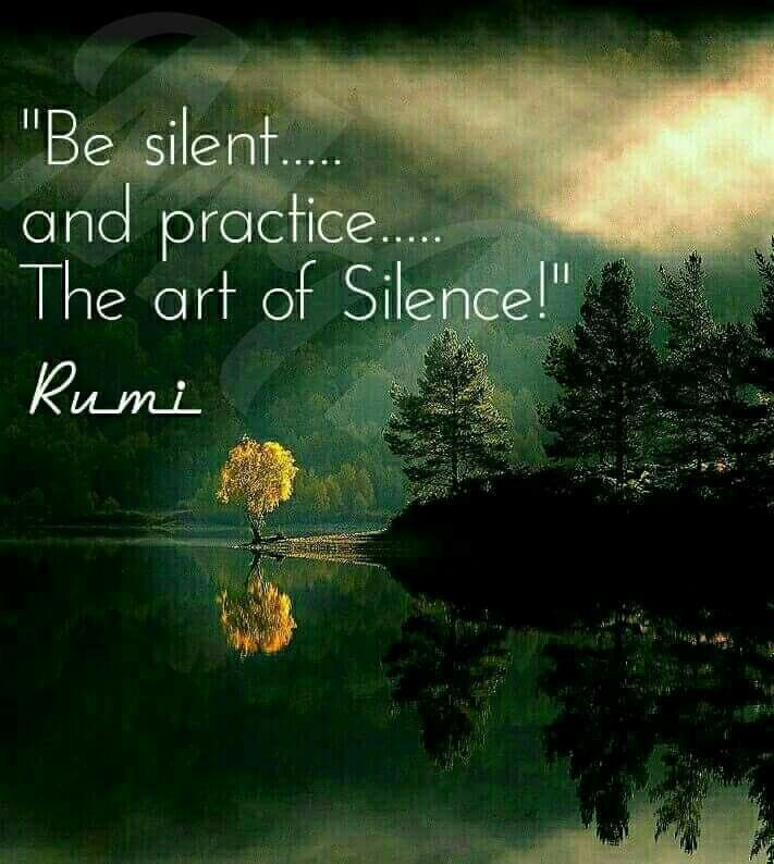 Silence is golden. Sometimes. ...