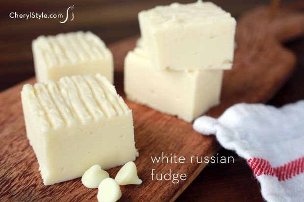 This white Russian fudge recipe makes ordinary white chocolate fudge extraordinary. It's all about the Kahlua!