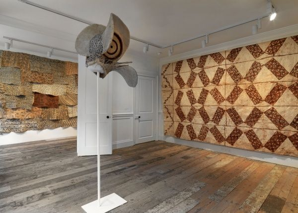 Exhibition view, The Stuff That Matters. Textiles collected by Seth Siegelaub for the CSROT, Raven Row, 2012. Courtesy the CSROT Historic Textile Collection at the Stichting Egress Foundation, Amsterdam. Photo: Marcus J. Leith