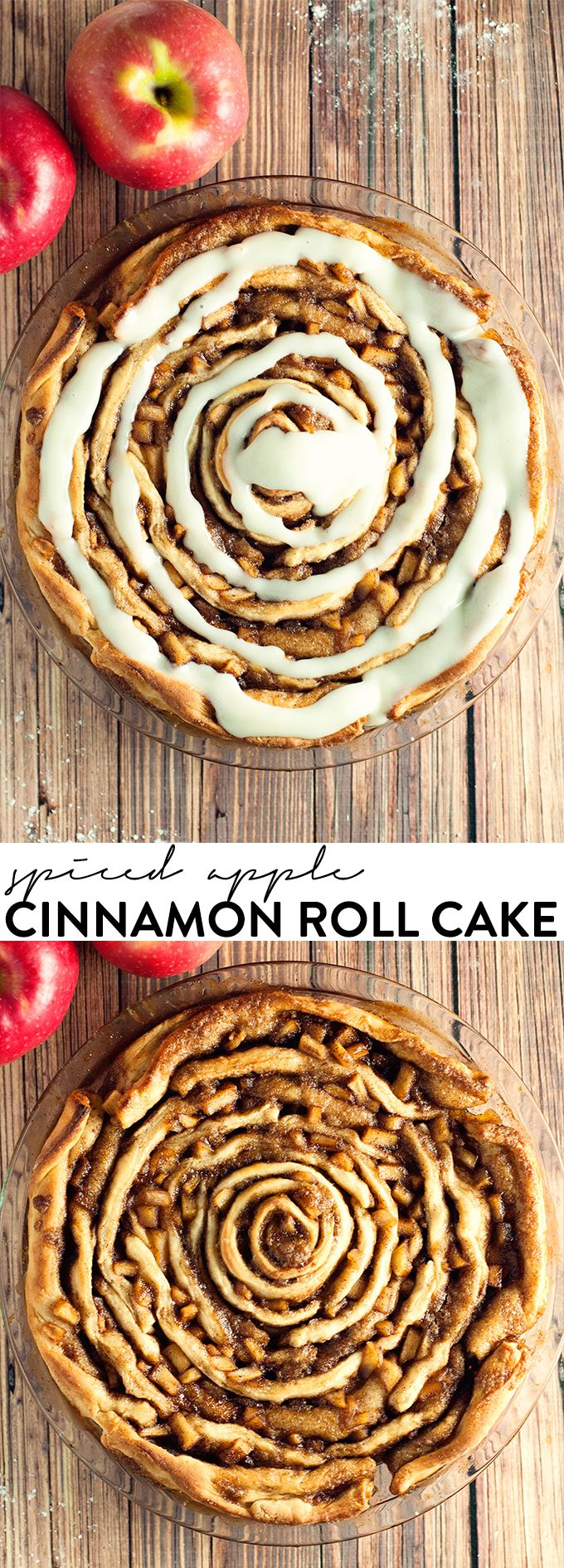 This spiced apple cinnamon roll cake blows boring breakfast away with amazing flavor! asimplepantry.com
