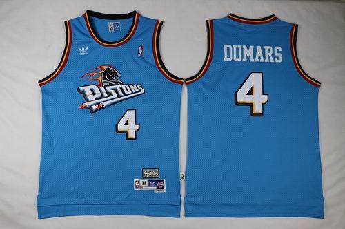 Detroit Pistons #4 Joe Dumars Blue jerseys