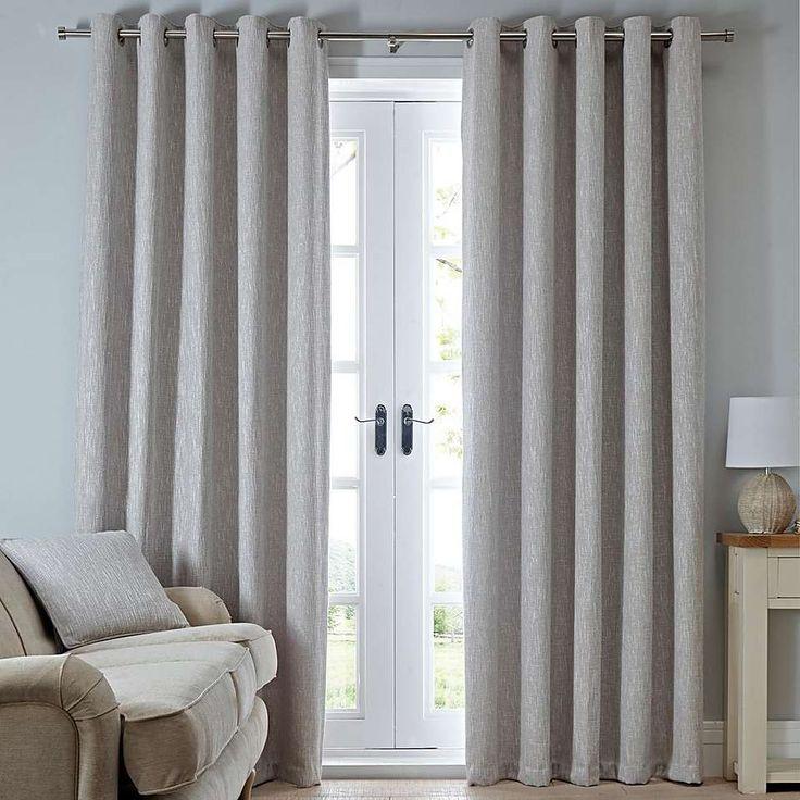 Boucle Natural Eyelet Curtains | Dunelm