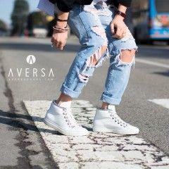 Outfit - Kammi Sneakers pelle bianca