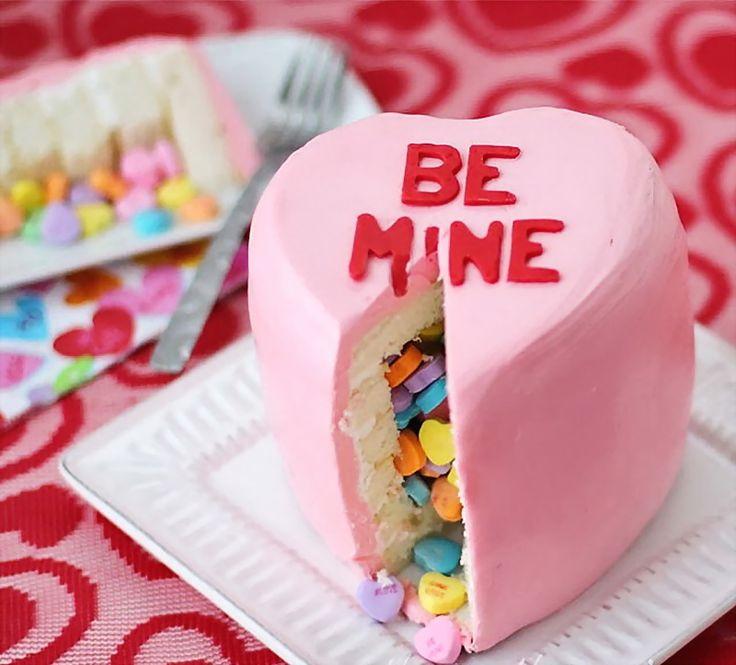 Valentine Piñata Heart Cake – Best Cheap Healthy & Unique Party Day Dessert Food - DIY Craft (3)