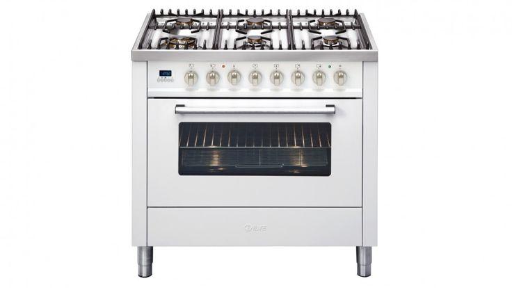 ILVE 90cm 6-Burner Freestanding Cooker - White - Freestanding Cookers - Appliances - Kitchen Appliances | Harvey Norman Australia