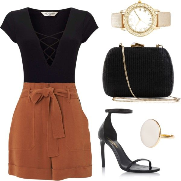 A fashion look from December 2016 featuring Whistles shorts, Miss Selfridge and Yves Saint Laurent sandals. Browse and shop related looks.