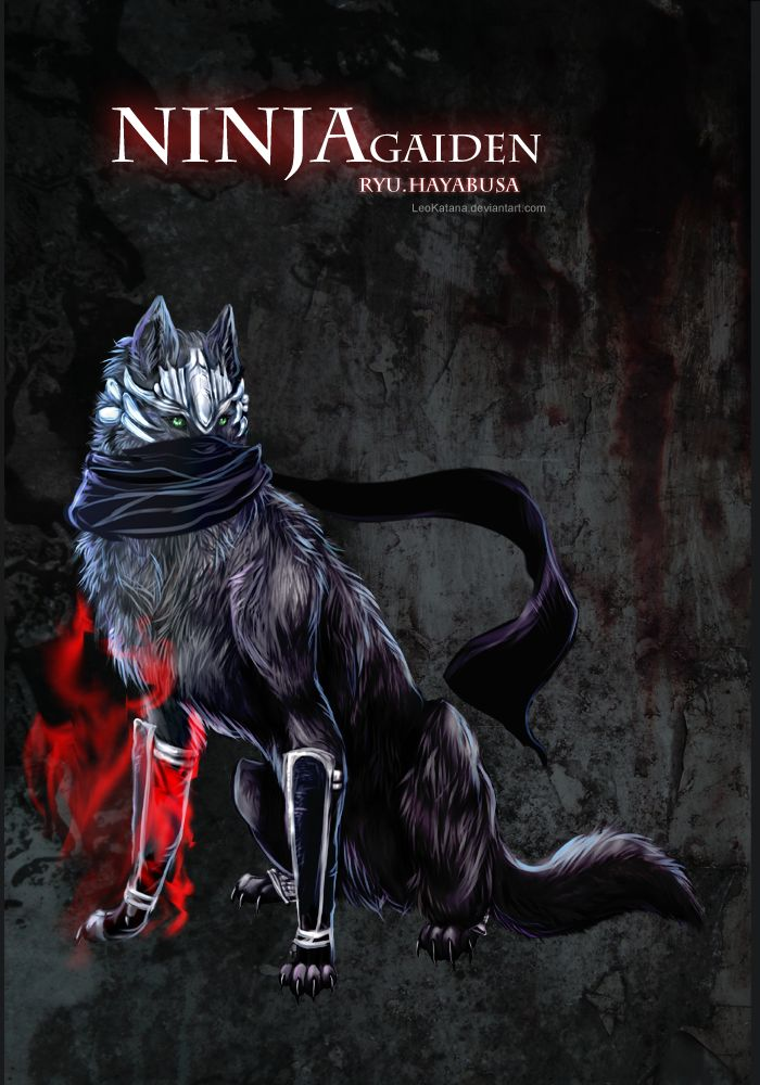 Ryu Hayabusa as a ninja wolf XD Recently I am playing xbox360 - ninja gaiden 3 fall in love with Ryu Hayabusa I love his voice of English version and his all moves are so handsome