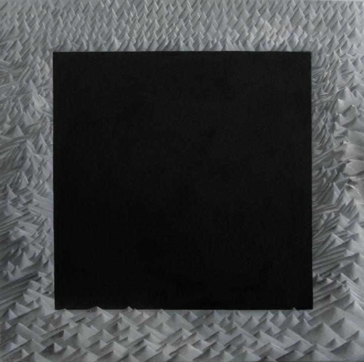 Kapitan odpłynął, 2012, olej, 50 na 50 cm, autor: Bartek Buczek