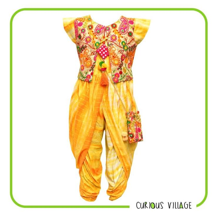 #DesignerWearForYourBeautifulKids  No more boring traditional clothes for kids! Go for something 'HATKE' this festive season! Avail flat 15% off on designer outfits at #CuriousVillage. Use Code: NAVRATRAS Applicable till 29th September.  #Kidswear #Dhoti #Jumpsuit #Indowestern